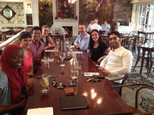 Lunch to celebrate Hisyam completing his honours